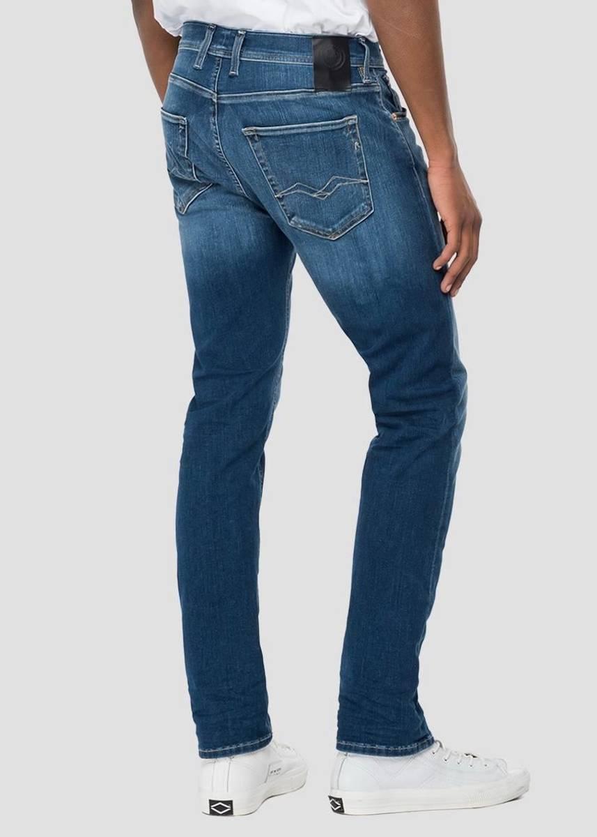 REPLAY - Anbass Hyperflex Jeans 30 Re-used Mid Blue M914Y RI12