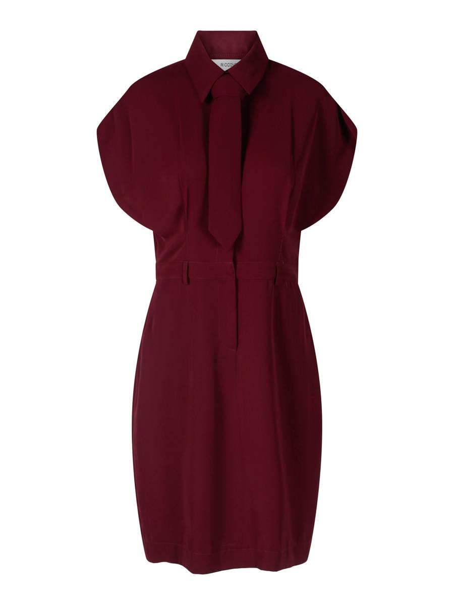 RICCOVERO - Blanche Tox Dress Dark Red